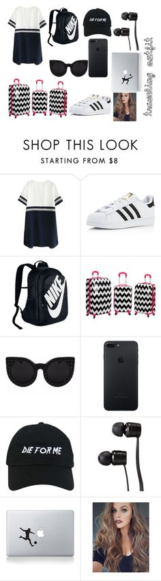 """traveling again"" by mimi1324 on Polyvore featuring adidas, NIKE, Rockland Luggage, Nasaseasons, Vans and Vinyl Revolution"
