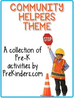 Community Helpers theme activities, lessons, and printables for Pre-K, Preschool, and Kindergarten. Community Workers, School Community, Classroom Community, Community Service, Community Helpers Lesson Plan, Community Helpers Activities, Community Helpers Kindergarten, Preschool Social Studies, Preschool Lesson Plans