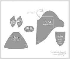 Afbeeldingsresultaat voor fabric deer head pattern