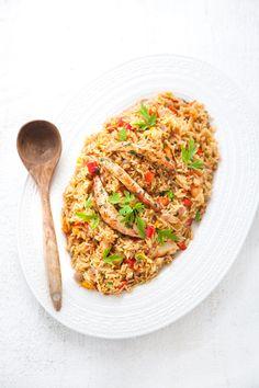 100 % Végétal: Jambalaya aux crevettes vegan // Vegan shrimps jambalaya