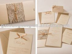 Lace and Ribbon Invitations