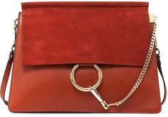 Chloe Faye Medium Shoulder Bag, Red