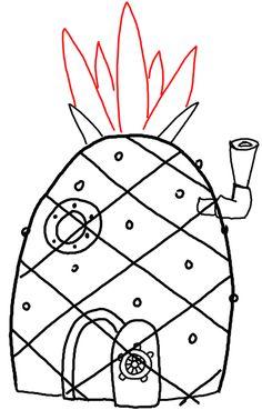 step 11 spongebob squarepants pineapple house drawing lesson