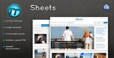 See More Sheets HTML ThemeIn our offer link above you will see
