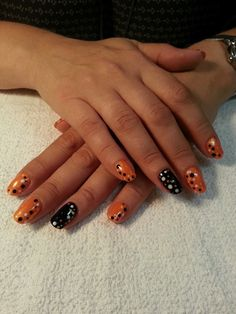 Pretty Fall Polka Manicure at ALL THAT GLITTERS - A TOTALLY UNIQUE BEAUTY BOUTIQUE  located in Tampa Bay! Beauty Boutique, Manicure, Nails, All That Glitters, Tampa Bay, Fashion Accessories, Unique, Pretty, Nail Bar