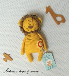 This crochet amigurumi lion I made with all my love. Its a best gift for kids, toddler and adults as well and of course to keep for yourself! It will be the best friend everywhere with you and makes you happy. Product information: Lion measures approximately 20cm tall. Material