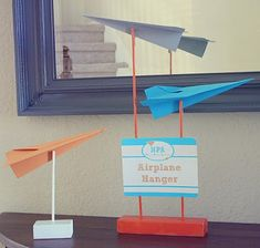 Throw A Pretty Paper Airplane Party Buggie and Jellybean Planes Birthday, Planes Party, Boy Birthday, Paper Airplane Party, Airplane Decor, Airplane Games, Airplane Room, First Birthday Parties, Birthday Party Themes