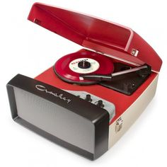 Crosley Collegiate Turntable This portable turntable will easily transfer your vinyl directly to a USB drive and play your favorites through the built-in speakers. Portable Record Player, Vinyl Record Player, Record Players, Vinyl Records, 45 Records, Lp Vinyl, Mp3 Player, Built In Speakers, Stereo Speakers