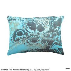Tie Dye Teal Accent Pillow by Janz