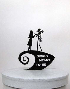 Wedding Cake Topper jack and sally cake topperThe Nightmare