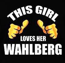 This girl loves her Wahlberg