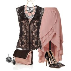 Black and Blush, created by striplingmom-1 on Polyvore