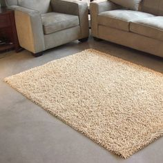Have to have it. Beige Bamboo Shag Area Rug $169.99