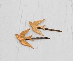 BIRD Bobby Pin Set Woodland Wedding Boho Autumn