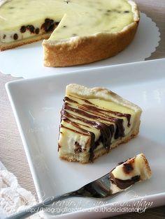 Crostata di ricotta e gocce di cioccolato | dolce al cucchiaio