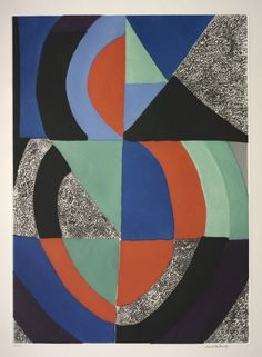 Untitled / Sonia Delaunay / c. 1970 / etching and aquatint