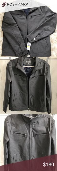 Michael by Michael Kors Men's jacket Light charcoal colored jacket perfect for in between seasons not too light not too heavy. Zipper accents and even has pocket on the inside for phones/iPods etc. brand new! MICHAEL Michael Kors Jackets & Coats Lightweight & Shirt Jackets