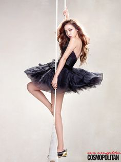 Goo Hara ★ KARA - Cosmopolitan gosh cant take my eyes off her @@@@ my gorgeous black swan <3<3<3