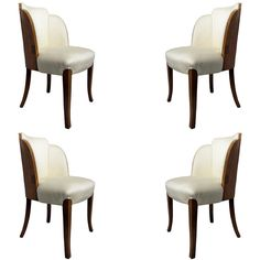 """Set of Four English Art deco """"Cloud"""" Chairs"""