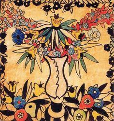 Anna Lesznai Design for Ady cushion II Art Deco Pattern, Museum Exhibition, The Twenties, Fashion Art, Rooster, Explorer, Colours, Fantasy, Cushion