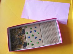 these texture boards are soooooo easy to make!  I have made heaps of them and the kids love them!