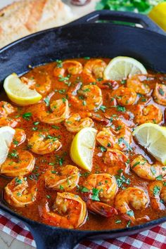 Saucy New Orleans BBQ Shrimp is to die for. Serve this with crusty bread for a mouthwatering #appetizer!