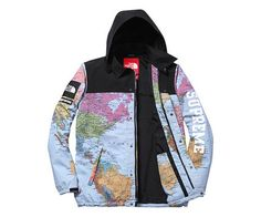 2014 Supreme × North Face Map Jacket This is the most amazing jacket!!!