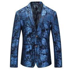 Blue Blazer Men Floral printing Casual Slim Suits Blazers 2018 New Arrival Fashion Party Men Suit Jacket Plus Size Price history. Mens Floral Blazer, Blue Blazer Men, Gold Blazer, Blazer Jacket, Tuxedo Jacket, Blazer Suit, Cheap Mens Blazers, Blazers For Men, Business Casual Suit