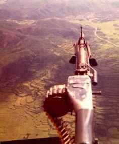 Typical view for Door Gunners, (Source: 129th.net) ~ Vietnam War