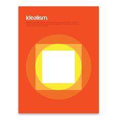 Idealism Print, by Genís Carreras ! Basic Shapes, Simple Shapes, Study Design, Color Blending, Graphic Design Illustration, Beautiful Artwork, Typography Design, Simple Designs, Illustrations Posters