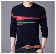 Cheap fashion sweaters men, Buy Quality sweater men directly from China sweater fashion men Suppliers: COODRONY Sweater Men 2017 New Fashion Pattern O-neck Pull Homme Winter Thick Warm Wool Sweaters Mink Cashmere Pullover Male 7315 Cashmere Sweater Men, Cashmere Wool, Men Sweater, Winter Outfits Men, Stylish Mens Outfits, Business Casual Men, Men Casual, T Shirt Diy, Mens Clothing Styles