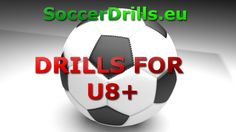 Soccer drills for U8+, which are practicing mostly defending, ball control and dribbling skills. #soccerdrills #soccer #for #kids