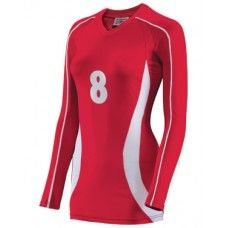 Features : Two moisture wicking fabrics allow for maximum performance , Streamlined womens cut , Home and away color combos , V-Neck design , Libero color options , Libero color options