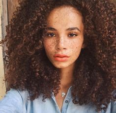 curly afro puff hairstyle - Lord & Cliff - www. Natural Hair Inspiration, Natural Hair Tips, Natural Curls, Natural Hair Styles, Big Curly Hair, Curly Hair Styles, Curly Girl, Black Power, Women With Freckles