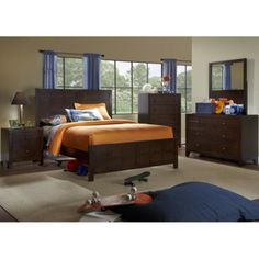 Powell Furniture Summerfield Full Bedroom Set   Full Bed, Dresser, Mirror,  Nightstand, Chest   Americana Fu.