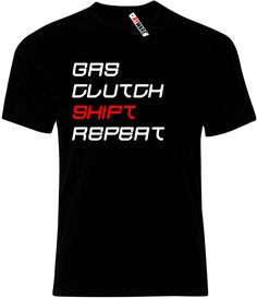 Gas Clutch Shift Repeat Mens Ryware T-Shirt only £8.49 at Ryware!