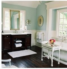 Bathroom- yes! Brighter blue