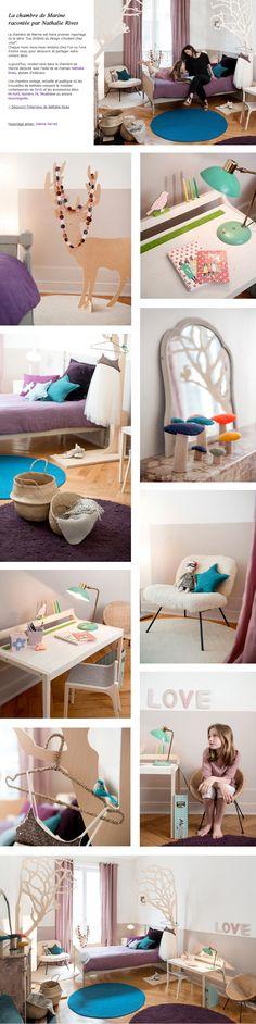 Lit enfant, meubles enfant design et accessoires : Chambre de Marine Nathalie Rives, tous le mobilier design chez Les Enfants du Design