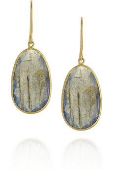 Pippa Small  Large Collette 18-karat gold labradorite earrings