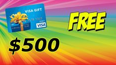 $500 VISA GIFT CARD | GIVEAWAY Visa Gift Card, Gift Card Giveaway, Website, Cards, Gifts, Presents, Maps, Favors, Playing Cards