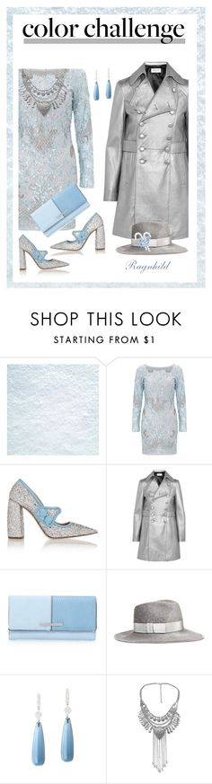 """Blue & Silver"" by ragnh-mjos ❤ liked on Polyvore featuring moda, Aidan Mattox, Miu Miu, Yves Saint Laurent, Eugenia Kim, contest, outfit e blueandsilver"