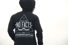 "ReonLeon Project Toneless Printed Hoodies ""NO FACT"""