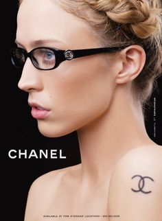 You are interested in Chanel - Ad Campaign Eyewear? Fashion ads, pictures, prints and advertising of Chanel - Ad Campaign Eyewear can be found here. Chanel Tattoo, Chanel Glasses, Raquel Zimmermann, Best Ads, Christy Turlington, Optician, Tattoo Trends, Classy And Fabulous, Cute Fashion