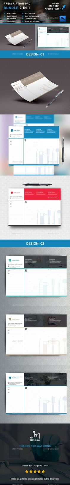 Prescription Pad Template | Templates, Template and Photoshop