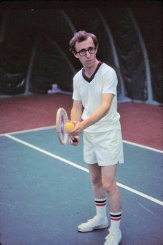 Woody Allen. Tennis. Swag. #WoodyAllen #Tennis #Swag