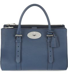 MULBERRY Bayswater double zip tote (Regal blue