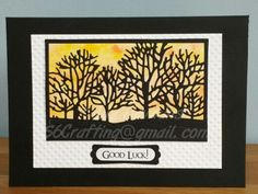 Good Luck card using Taylored Expression 'Seasonal Trees' die (TE448) - S6 Crafting