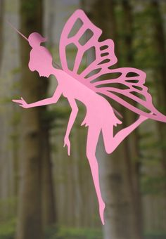 Pretty paper fairy for hanging in girls room.