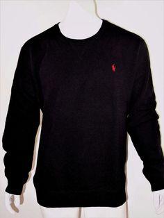 Polo Ralph Lauren men's classic fleece crew sweater size xxl  NWT black #PoloRalphLauren #Crewneck