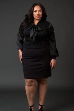 Ponte Pencil Skirt- Black